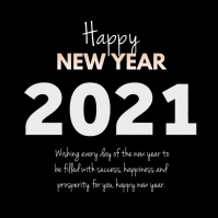 Happy New Year Wishes Greetings Video Square