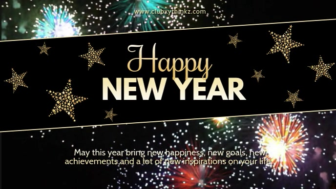 Happy New Year Wishes Message Video Firework template