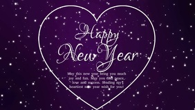 Happy New Year Wishes Text template Heart Ad