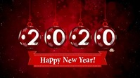 Happy new year wishes video Digital Display (16:9) template