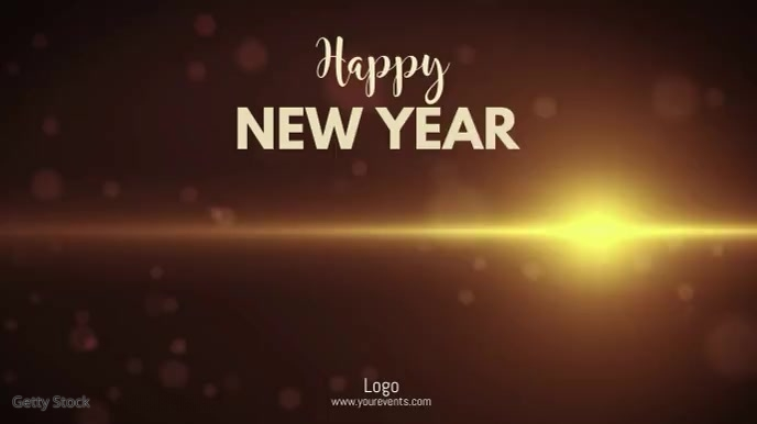 Happy New Year Wishes Video Greeting Card ad