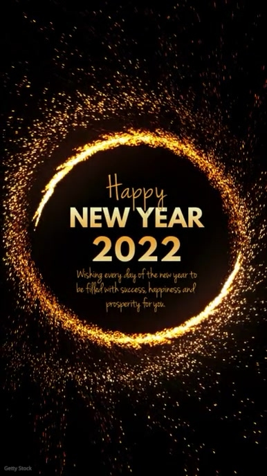 Happy New Year wishes Video Sparkle Shine Ad template