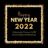 Happy New Year wishes Video Sparkle Shine Ad