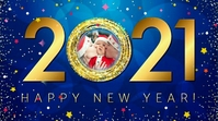 Happy new year Wishes wallpaper Digital Display (16:9) template