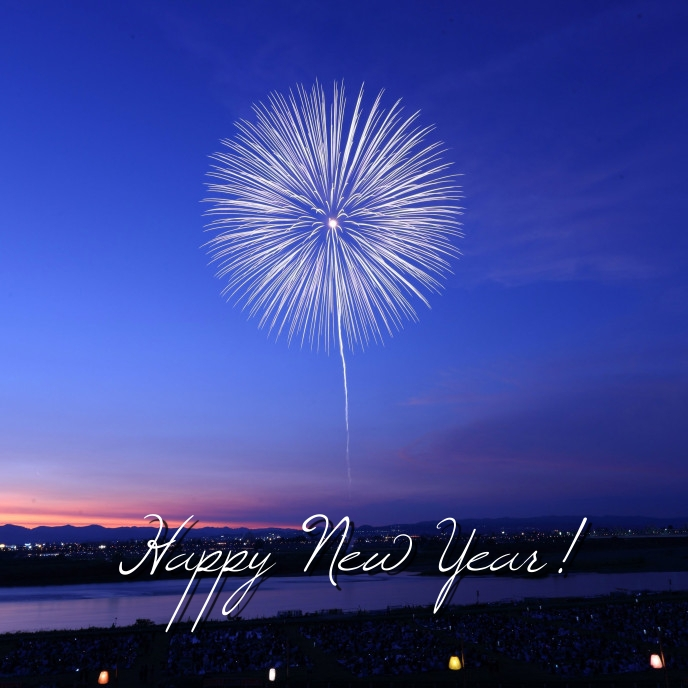 Happy New years Capa de álbum template