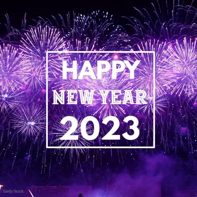 Happy New Yeas 2020 Firework Greeting video