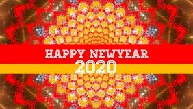 Happy Newyear 2020 flyer template