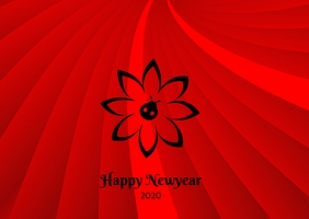 Happy Newyear pretty poster template