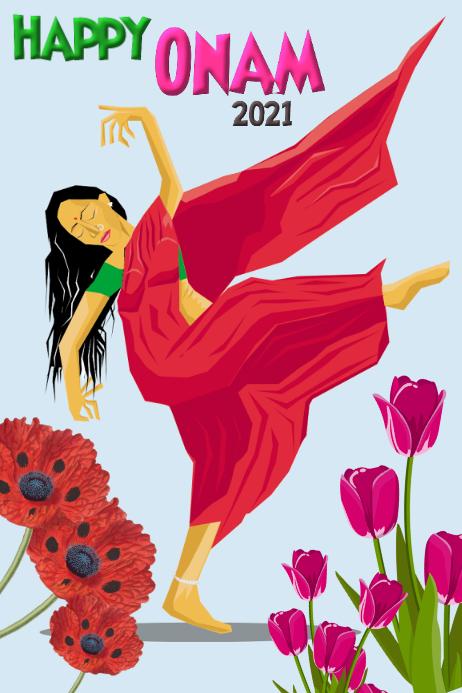 Happy Onam/India festival/celebration/party Banner 4' × 6' template