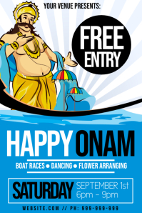 Happy Onam Poster