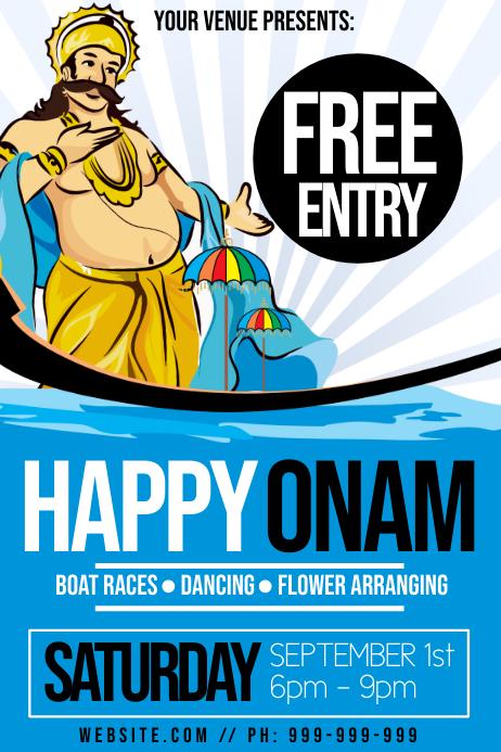 Happy Onam Poster