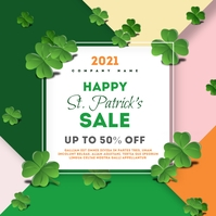 Happy patrick's day sale template instagram p