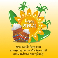Happy Pongal Day Poster Template Vierkant (1:1)