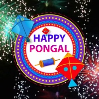 Happy Pongal Day Video Template Quadrat (1:1)