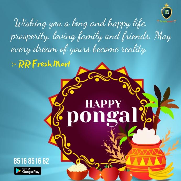 Happy pongal Instagram Plasing template