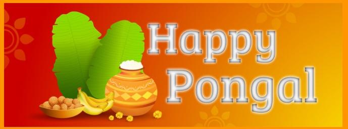Happy pongal Portada de Facebook template