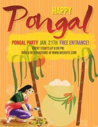Happy Pongal Party Event Flyer