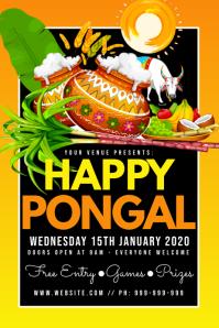 Happy Pongal Poster Плакат template