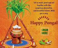 happy pongal wishes wallpaper Middelgrote rechthoek template