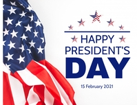 Happy Presidents Day Flyer (Letter pang-US) template