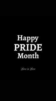 Happy Pride Month wishing card Greetings Instagram 故事 template