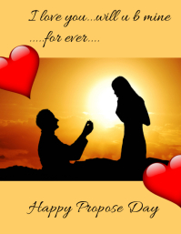 Happy Propose Day Flyer (US Letter) template
