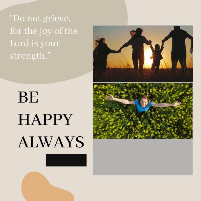 HAPPY QUTOE DESIGN Wpis na Instagrama template
