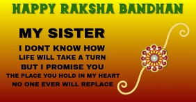 HAPPY RAKSHA BANDHAN TEMPLATE Facebook Advertensie