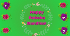 HAPPY RAKSHA BANDHAN. TEMPLATE Facebook-Anzeige