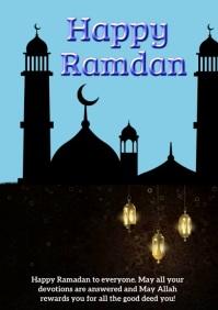 happy ramadan A4 template