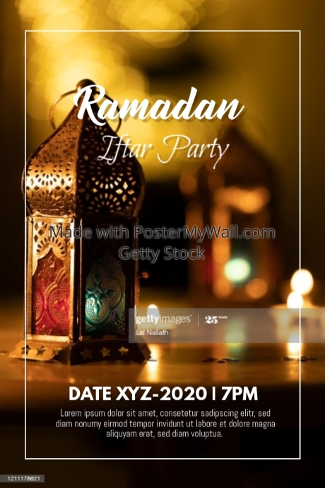 Happy Ramadan Iftar Party Event Poster Flyer