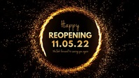 Happy Reopening Banner Header Advert Cover