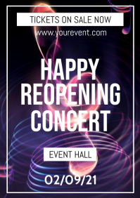 Happy reopening Concert Flyer Poster Music