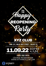 Happy Reopening Party Flyer Poster Advert