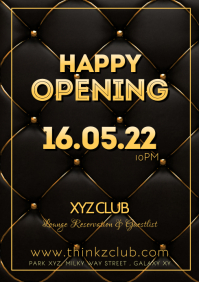 Happy Reopening Party Opened again Flyer even
