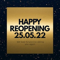Happy Reopening Reopen Opening Video Gold