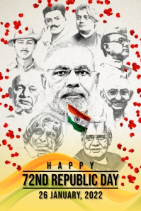 Happy Republic Day 2021 Template Poster