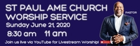 Happy Fathers day church worship online service Transparent 2 stopy × 6 stóp template