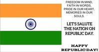 HAPPY REPUBLIC DAY FLAG TEMPLATE Facebook Shared Image