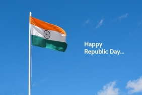 Happy Republic Day poster template