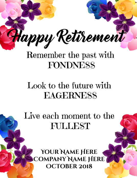Happy Retirement 传单(美国信函) template