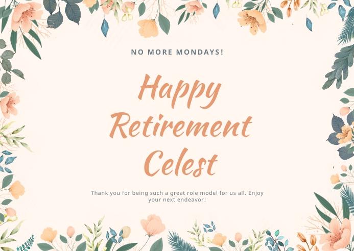 Happy Retirement Wish 明信片 template