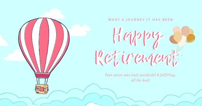 Happy Retirement Wish Image partagée Facebook template