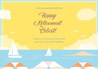 Happy Retirement Wish Открытка template