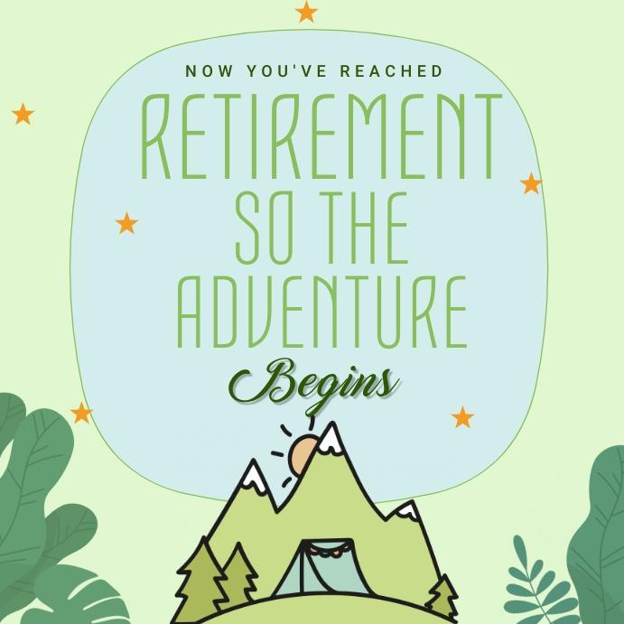 Happy Retirement Wish Instagram Post template