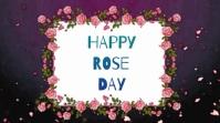Happy Rose Day video Digital Display (16:9) template