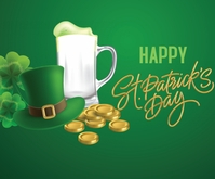 Happy Saint Patrick day 中型广告 template