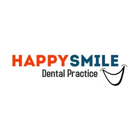 Happy smile dentist logo