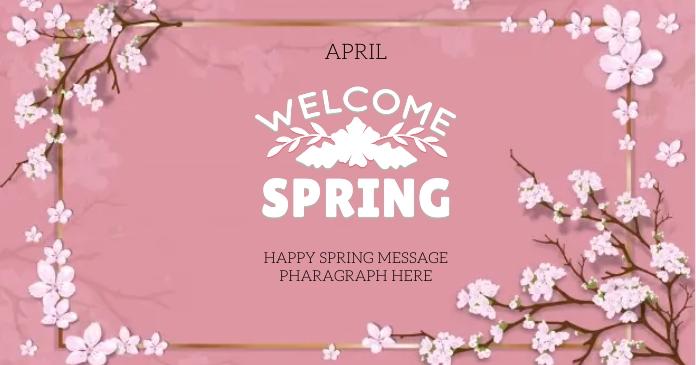 happy SPRING day wishes design template delt Facebook-billede
