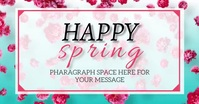 HAPPY SPRING SALE VIDEO Flyer Template Image partagée Facebook